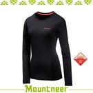 【Mountneer 山林 女 透氣排汗長袖上衣《黑色》】21P26-01/抗UV/UPF50+/透氣/排汗衣/上衣/休閒