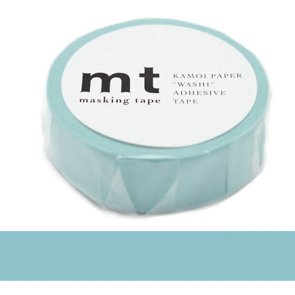 日本mt Masking Tape 和紙膠帶 粉藍色 15mm
