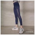 Catworld 帥氣女子側邊拼網紗提臀彈力運動褲【12002078】‧S-XL