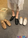 穆勒鞋 包頭半拖鞋女外穿時尚2021春季新款百搭方頭穆勒鞋低跟涼拖潮 寶貝計畫 618狂歡