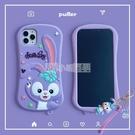 掛墜卡通紫兔iPhone12mini手機殼11pro網紅適用于蘋果xs max全包邊防摔硅膠xr時尚ins個性7/8plus 小明同學