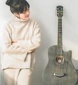 吉他 安德魯一代38寸吉他初學者學生新手入門41寸女男生民謠吉它樂器 小宅君