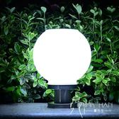 太陽能燈  太陽能燈戶外家用庭院燈柱頭圍墻門柱燈圓球燈新農村防水路燈超亮