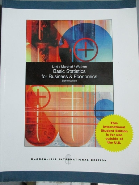 【書寶二手書T2/大學商學_WEJ】Basic Statistics for Business and Economic