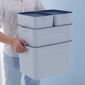 現貨 收納箱塑料整理箱書本衣櫃衣物儲物箱子桌面收納大小套裝 聖誕節交換禮物
