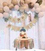 寶寶生日布置百天一周歲氣球套餐
