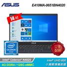 【ASUS 華碩】E410MA-0651...
