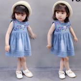 女童牛仔裙 夏裝新款韓版1歲女童牛仔裙女寶寶公主裙LJ8719『miss洛羽』
