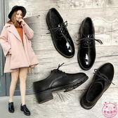 紳士鞋女新品秋季新款英倫風女鞋百搭韓版學生單鞋潮冬 跨年鉅惠85折