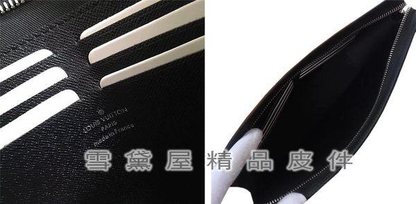 ~雪黛屋~LV 手拿包國際正版保證進口防水防刮皮革拉鍊主袋品證品牌塵套提袋等候10-15日L616921