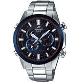CASIO卡西歐EDIFICE雙錶盤世界時間太陽能電波錶    EQW-T640YDB-1A2