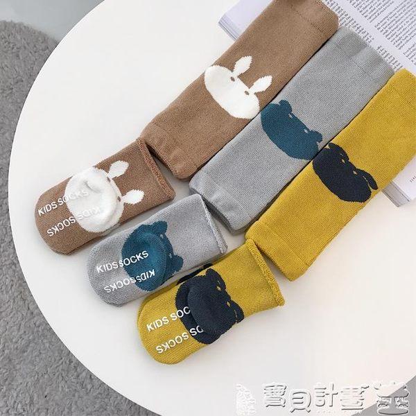 嬰兒襪 童裝冬裝嬰兒卡通襪子1-2歲男女童寶寶短襪護膝兩件套 寶貝計畫