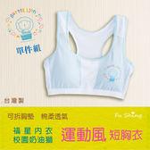 6600奶油獅運動風胸衣短版胸衣/小背心型寬肩/台灣製造/可拆胸墊/【福星內衣】