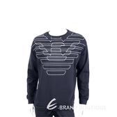 Emporio Armani 黑色老鷹標誌抽繩質運動衫(男款) 1920703-01