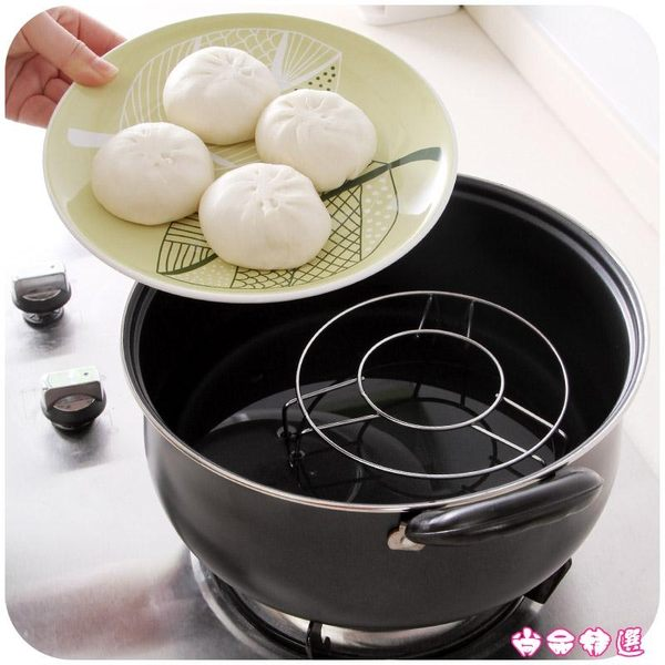 廚房不銹鋼蒸鍋高腳小蒸架 蒸飯隔熱架蒸盤器隔水蒸菜架子