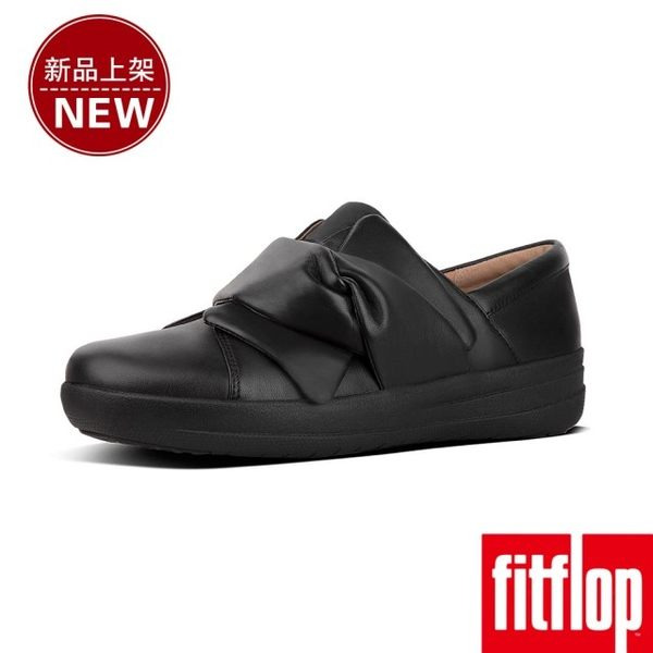 【FitFlop】F-SPORTY II BOWY LEATHER SLIP-ON SNEAKERS(黑色)