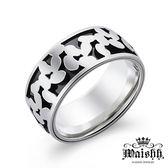 Waishh玩飾不恭【火星漫步】雙色 珠寶白鋼戒指 / 率性設計個性潮流鋼戒