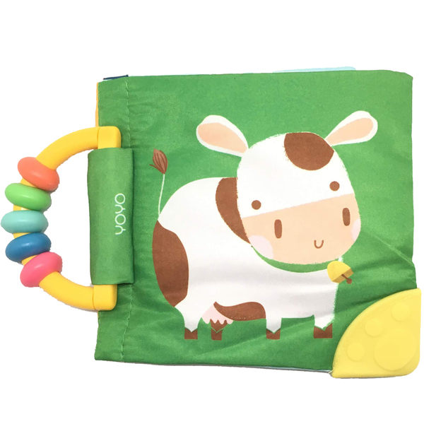 My Soft Rattle & Teether Book:Cow 我的趣味布書:乳牛