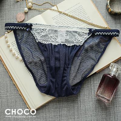 Choco Shop-少女盛典‧細帶蕾絲內褲(藍色) S~L
