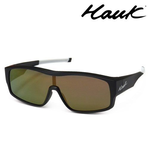 HAWK全片式運動風2用偏光太陽眼鏡 偏光套鏡(眼鏡族專用)HK1020A-02