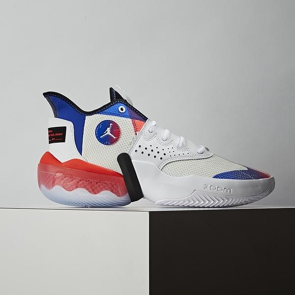 Nike Jordan React Elevation PF男鞋 白藍紅 喬丹 避震 包覆 籃球鞋 DC5188-102