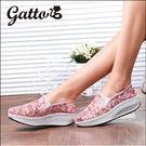 厚底涼鞋 蕾絲鞋 亮片 健走鞋 搖搖鞋 透氣 媽媽鞋 真皮鞋墊 (少量現貨)gatto