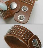 韓國 簡約皮革皮帶情人 手環 鉚釘 龐克搖滾手鐲 皮手環 飾品 首飾 項鍊 穿搭