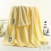 嬰兒浴巾兒童洗澡巾浴巾純棉紗布超柔軟秋冬【極簡生活】