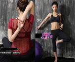 來福,B135瑜珈服後面豔陽短袖運動衣三件式路跑健身服路跑七分褲附實拍,整套售價1100元
