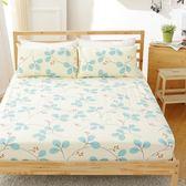[SN]#U084#細磨毛天絲絨5x6.2尺標準雙人床包+枕套三件組-台灣製(不含被套)
