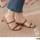 《SD0354》防潑水撞色線條低跟涼鞋/涼拖鞋 OrangeBear