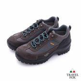 TRAVEL FOX(女)休閒戶外Vibram安全大底登山越野運動鞋 - 藍棕