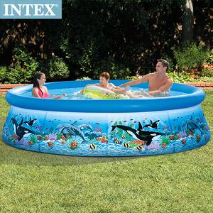 INTEX 海洋圖案簡易裝EASY SET泳池-濾水泵(28125)
