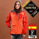 歐洲極地禦寒原裝GORETEX二合一兩件式內刷毛高防風防水外套(女GTX-006W粉橘拼接 )【西班牙-戶外趣】