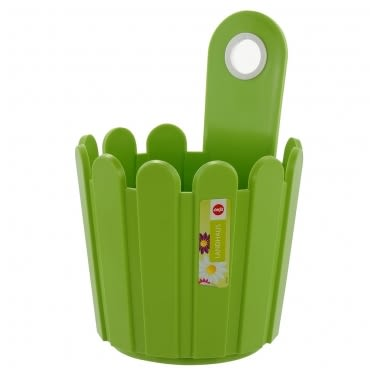 LANDHAUS 可吊式圓型花槽-綠