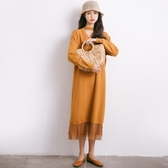 【限時下殺89折】哺乳洋裝 洋氣又時髦人手兩件都不夠秋冬外出時尚哺乳毛衣喂奶針織長袖裙子