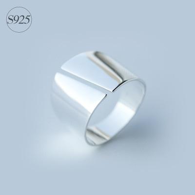 戒指 925純銀-亮面寬版生日情人節禮物女開口戒73dt350【時尚巴黎】