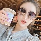 墨鏡女士偏光太陽眼鏡女圓臉顯瘦防紫外線潮流韓版網紅同款潮時尚墨鏡 快速出貨