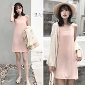 夏季新款雪紡內搭吊帶裙中長版打底背心襯裙寬鬆顯瘦連身裙