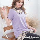 【Kinloch Anderson金安德森女裝】剪接下擺配格布假兩件上衣  長版上衣  下擺