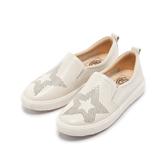 【Fair Lady】 Soft Power 軟實力 星星造型樂福厚底休閒鞋 白