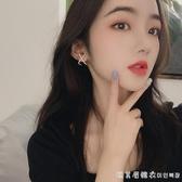 925純銀耳釘女簡約冷淡風網紅同款耳環2019新款潮韓國氣質耳飾品 漾美眉韓衣
