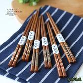 包有味道日式木筷印尼鐵木筷指甲筷尖頭筷家用筷子餐具KZ 1