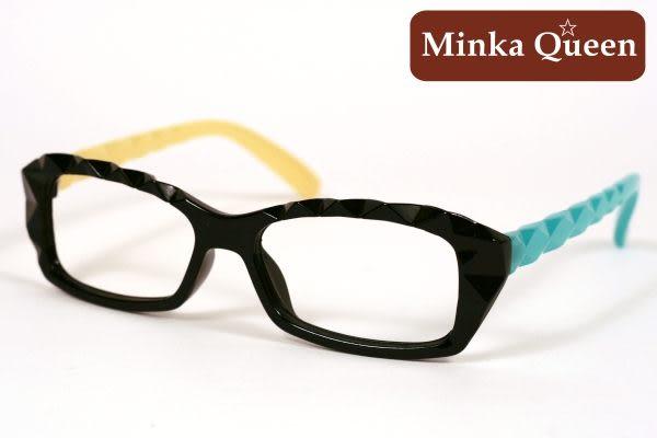 Minka Queen 俏麗黃藍彩色混搭黑框(無鏡片)潮流必備個性百搭流行配光眼鏡