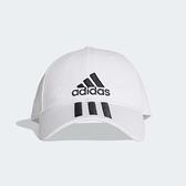 adidas 老帽 Classic 3 Stripes Cap 棒球帽 鴨舌帽 帽子 三條線 白 黑 【ACS】 DU0197