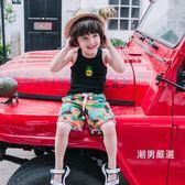 優惠兩天-背心夏季新品棉質男童寶寶中小童工字背心跨欄背心菠蘿高彈兒童背心2色