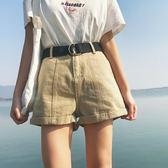 高腰顯瘦卷邊牛仔褲短褲寬鬆顯瘦熱褲潮