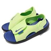 Nike 涼拖鞋 Sunray Adjust 5 V2 GS PS 綠 藍 中童鞋 大童鞋 女鞋 涼鞋 【ACS】 DB9562-300