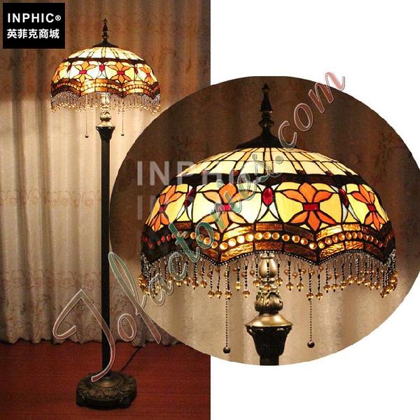 INPHIC-流蘇珠鏈古典高雅落地燈手工藝術品別墅彩色玻璃客廳燈_S2626C