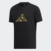 Adidas BADGE OF SPORT 男裝 短袖 T恤 休閒 迷彩LOGO 棉 黑【運動世界】GP0851